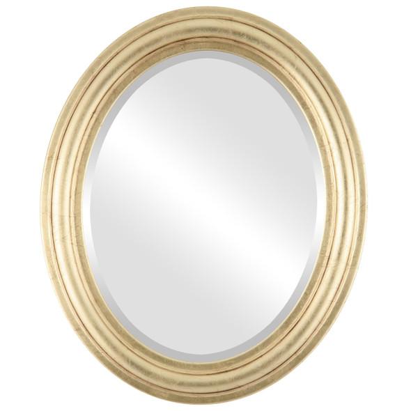 Beveled Mirror - Philadelphia Oval Frame - Gold Leaf