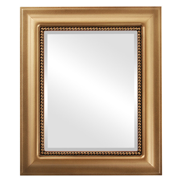 Beveled Mirror - Heritage Rectangle Frame - Desert Gold