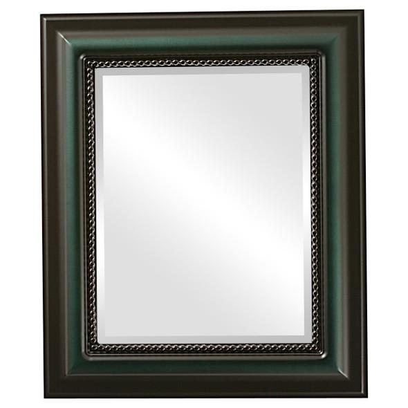 Beveled Mirror - Heritage Rectangle Frame - Hunter Green