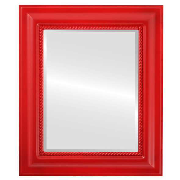 Beveled Mirror - Heritage Rectangle Frame - Holiday Red