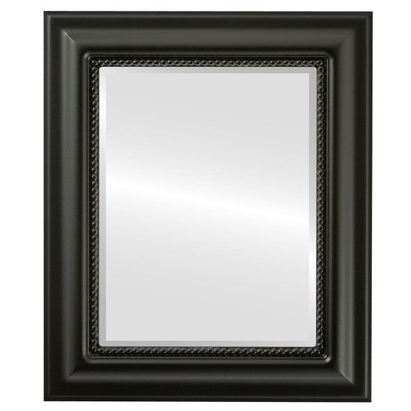 Beveled Mirror - Heritage Rectangle Frame - Matte Black