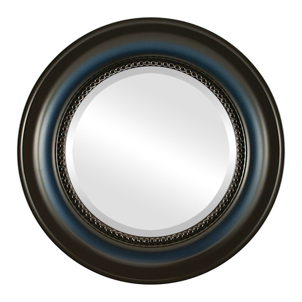 Beveled Mirror - Heritage Round Frame - Royal Blue