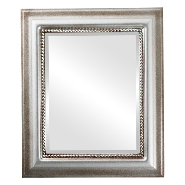 Beveled Mirror - Heritage Rectangle Frame - Silver Shade