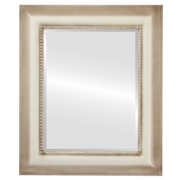 Beveled Mirror - Heritage Rectangle Frame - Taupe