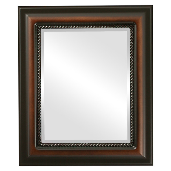 Beveled Mirror - Heritage Rectangle Frame - Walnut