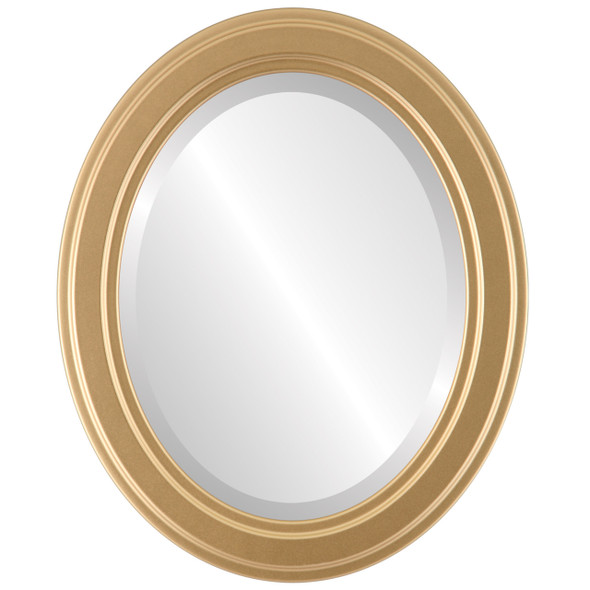 Beveled Mirror - Wright Oval Frame - Gold Spray