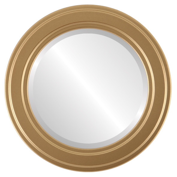 Beveled Mirror - Wright Round Frame - Gold Spray