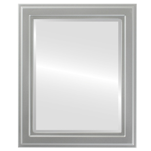 Beveled Mirror - Wright Rectangle Frame - Silver Spray