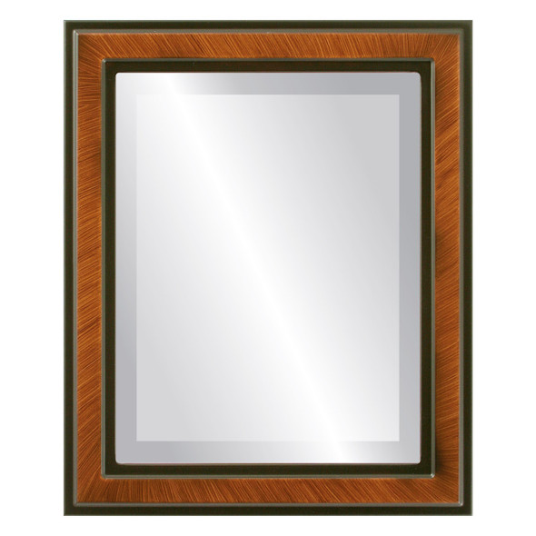Beveled Mirror - Wright Rectangle Frame - Vintage Walnut