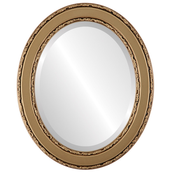 Beveled Mirror - Monticello Oval Frame - Desert Gold