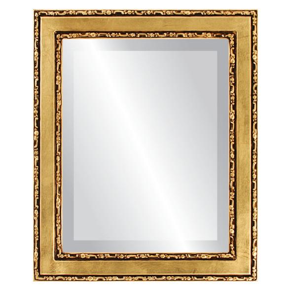 Beveled Mirror - Monticello Rectangle Frame - Gold Leaf