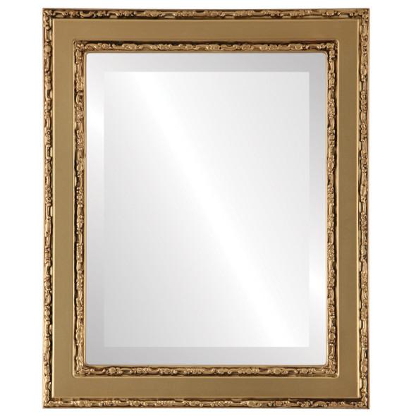 Beveled Mirror - Monticello Rectangle Frame - Gold Spray