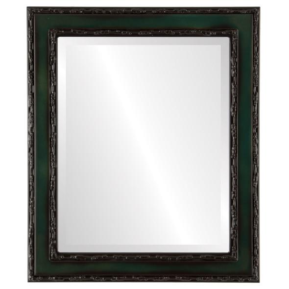 Beveled Mirror - Monticello Rectangle Frame - Hunter Green