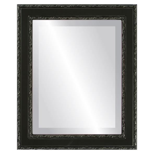 Beveled Mirror - Monticello Rectangle Frame - Matte Black