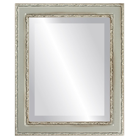 Beveled Mirror - Monticello Rectangle Frame - Silver Shade