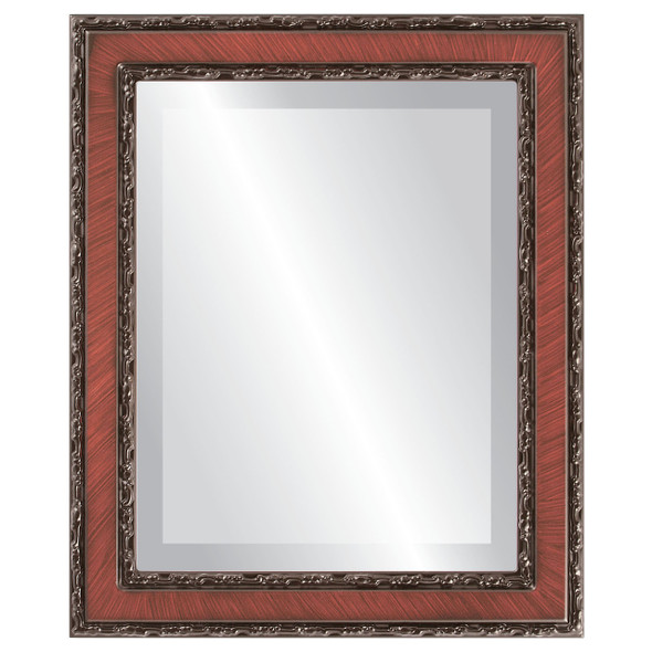 Beveled Mirror - Monticello Rectangle Frame - Vintage Cherry