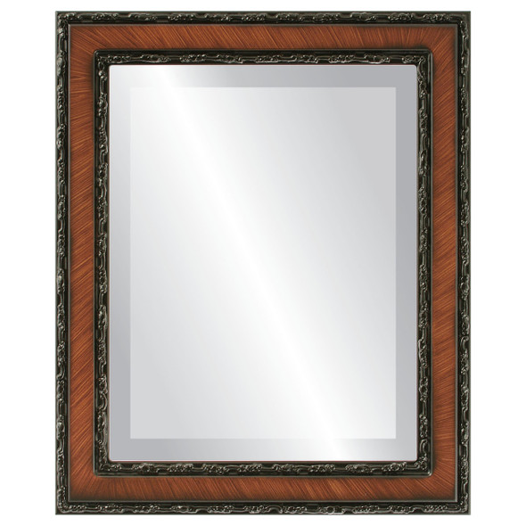 Beveled Mirror - Monticello Rectangle Frame - Vintage Walnut