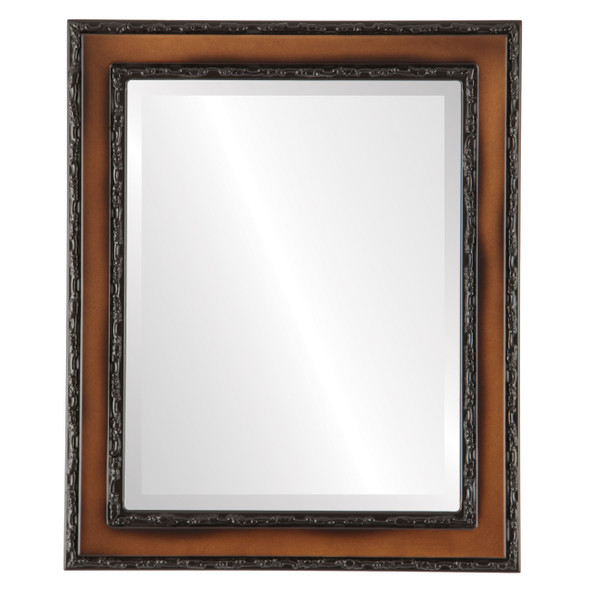 Beveled Mirror - Monticello Rectangle Frame - Walnut