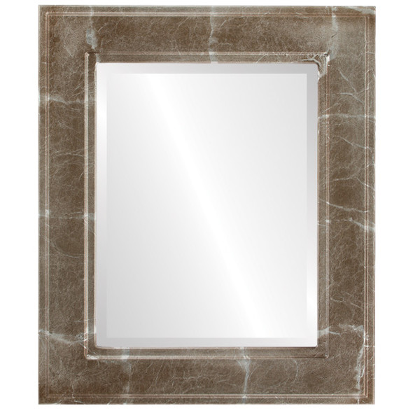 Beveled Mirror - Montreal Rectangle Frame - Champagne Silver