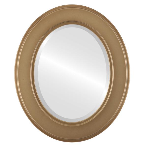 Beveled Mirror - Montreal Oval Frame - Desert Gold