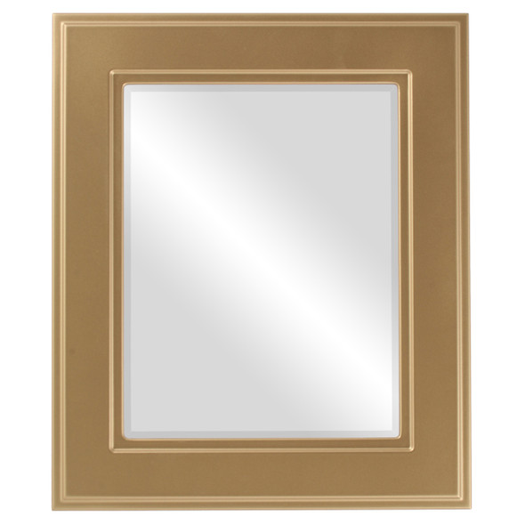 Beveled Mirror - Montreal Rectangle Frame - Desert Gold