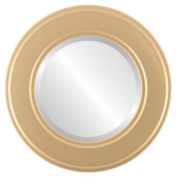 Beveled Mirror - Montreal Round Frame - Gold Spray