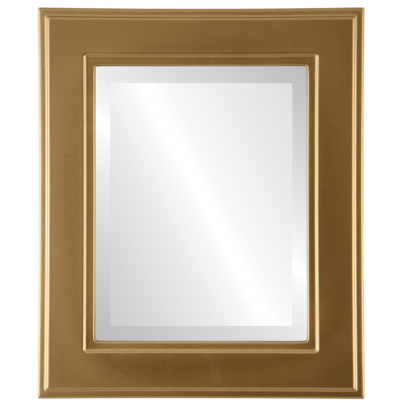Beveled Mirror - Montreal Rectangle Frame - Gold Spray