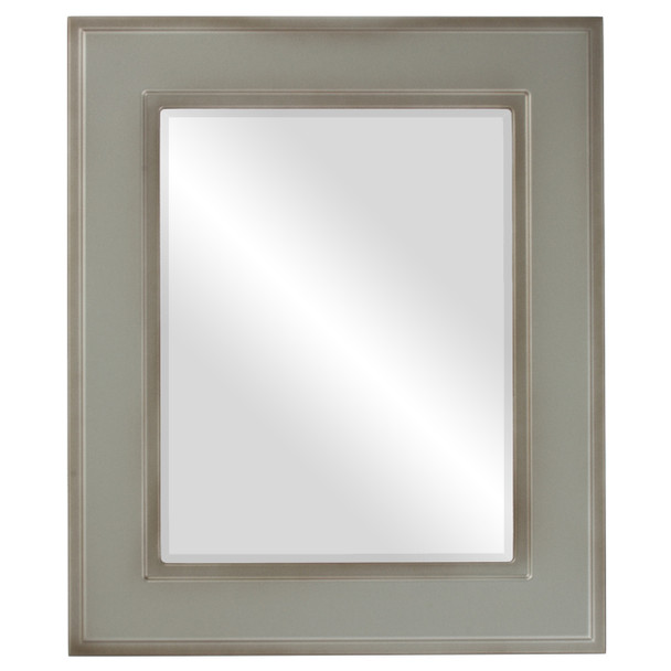 Beveled Mirror - Montreal Rectangle Frame - Silver Shade