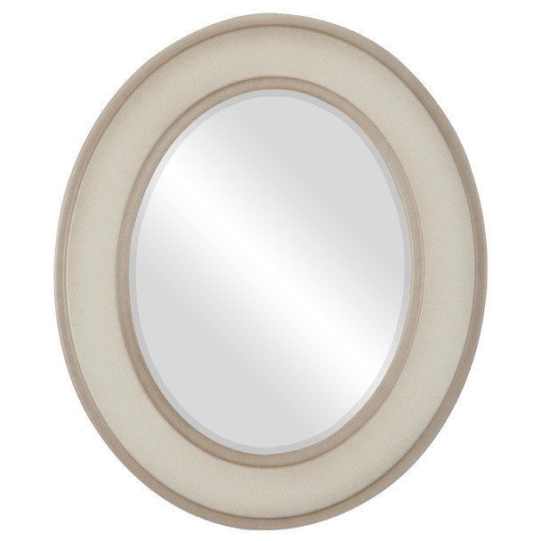 Beveled Mirror - Montreal Oval Frame - Taupe