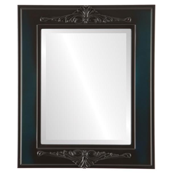 Beveled Mirror - Ramino Rectangle Frame - Royal Blue