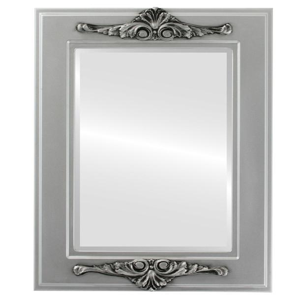 Beveled Mirror - Ramino Rectangle Frame - Silver Spray