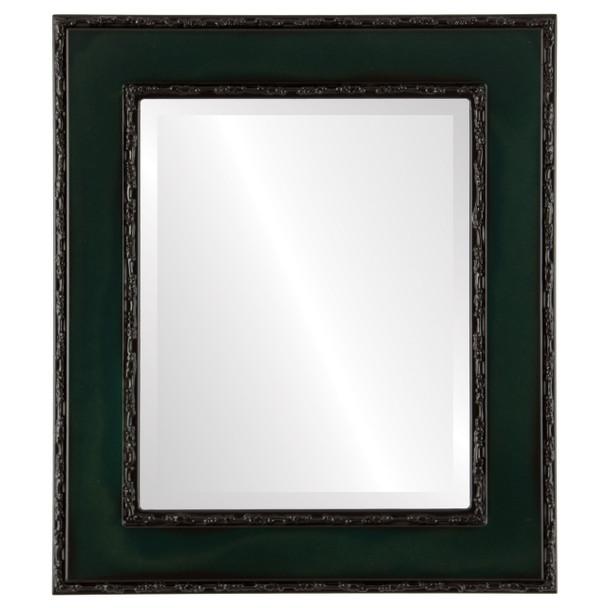 Beveled Mirror - Paris Rectangle Frame - Hunter Green