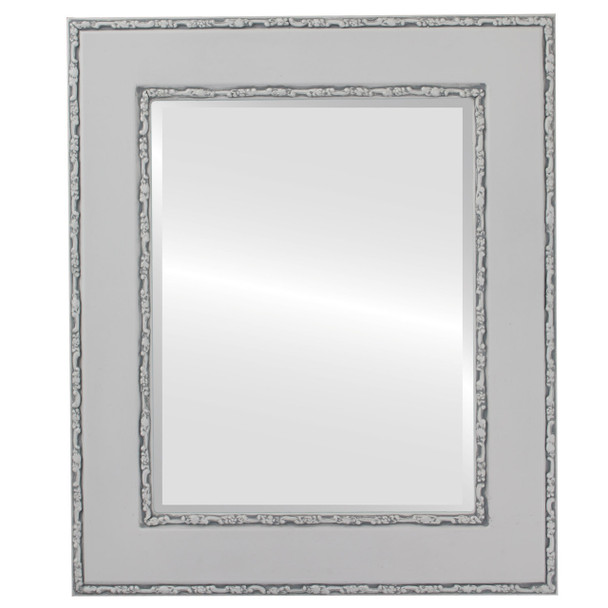 Beveled Mirror - Paris Rectangle Frame - Linen White