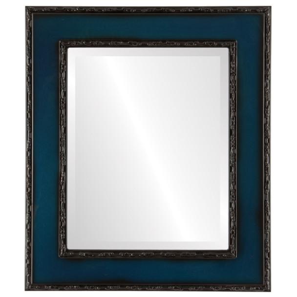 Beveled Mirror - Paris Rectangle Frame - Royal Blue