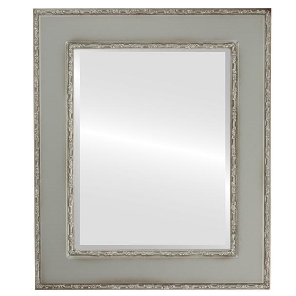 Beveled Mirror - Paris Rectangle Frame - Silver Shade