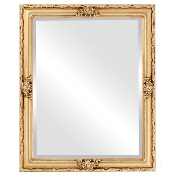 Beveled Mirror - Jefferson Rectangle Frame - Atnique Gold Leaf