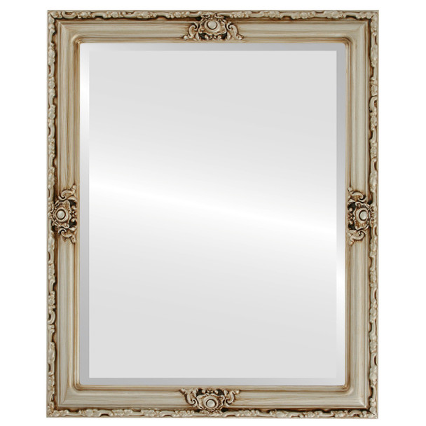 Beveled Mirror - Jefferson Rectangle Frame - Silver