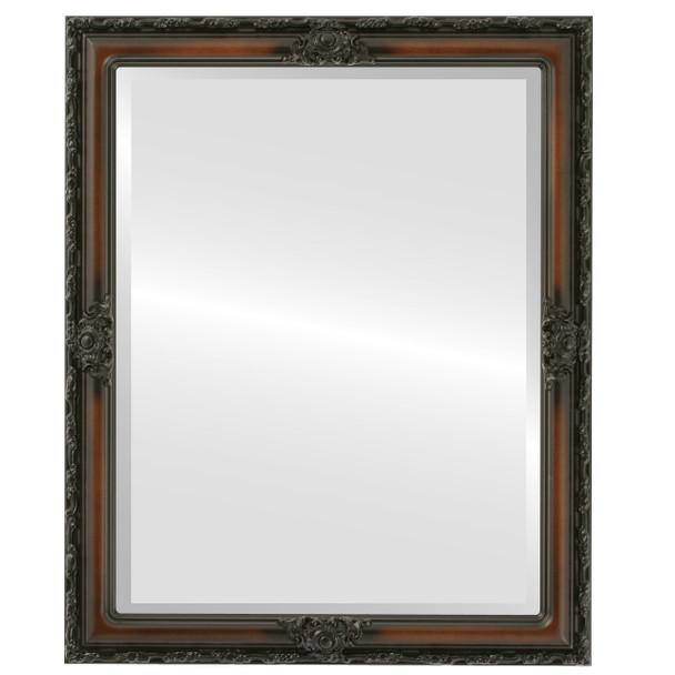 Beveled Mirror - Jefferson Rectangle Frame - Walnut