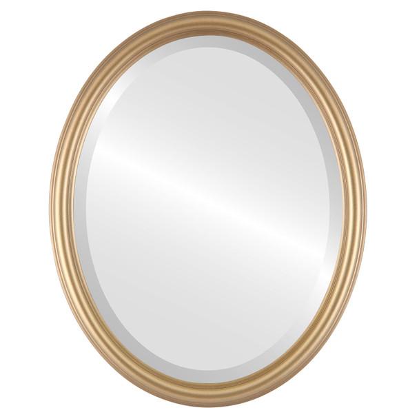Beveled Mirror - Saratoga Oval Frame - Desert Gold