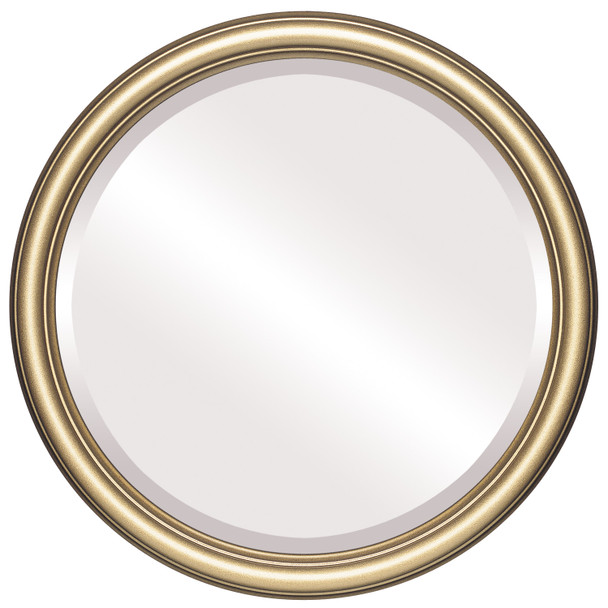 Beveled Mirror - Saratoga Round Frame - Desert Gold