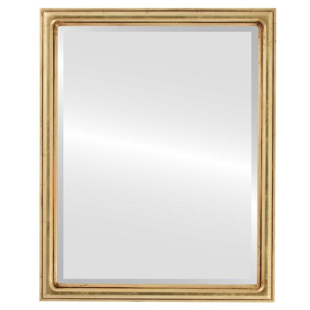 Beveled Mirror - Saratoga Rectangle Frame - Gold Leaf