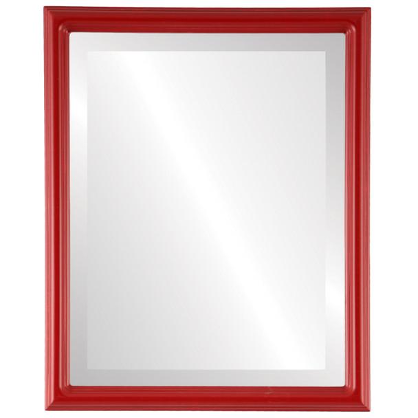 Beveled Mirror - Saratoga Rectangle Frame - Holiday Red
