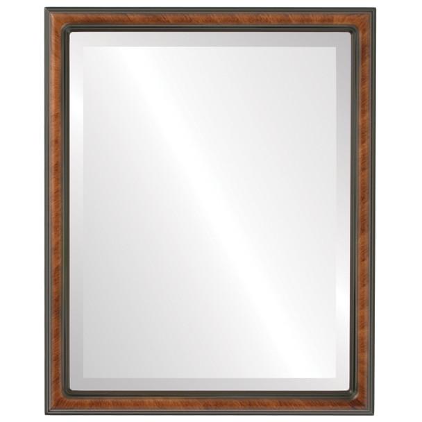 Beveled Mirror - Saratoga Rectangle Frame - Vintage Walnut