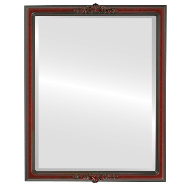 Beveled Mirror - Contessa Rectangle Frame - Vintage Cherry