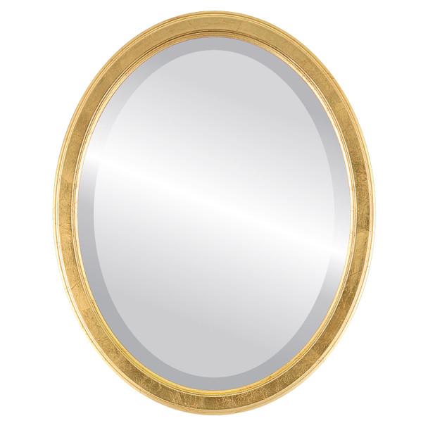 Beveled Mirror - Toronto Oval Frame - Gold Leaf