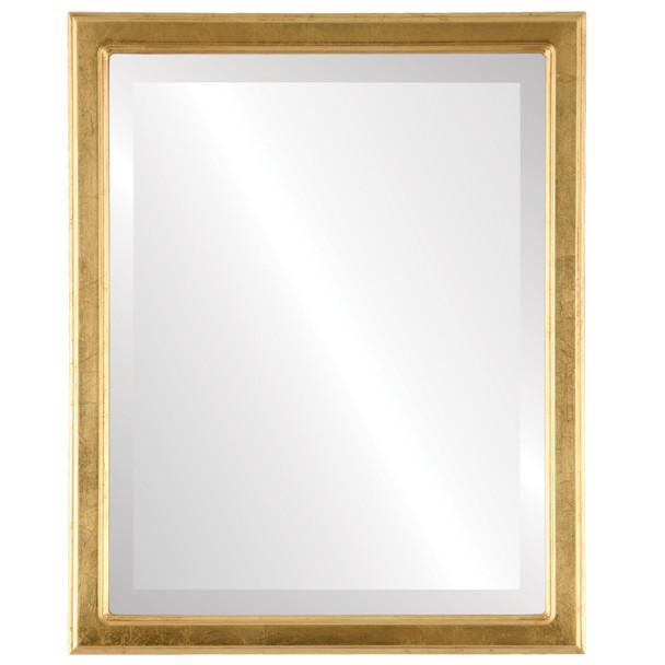 Beveled Mirror - Toronto Rectangle Frame - Gold Leaf