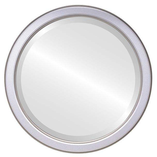 Beveled Mirror - Toronto Round Frame - Silver Shade