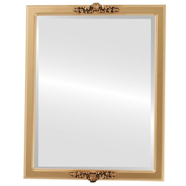 Beveled Mirror - Athena Rectangle Frame - Gold Spray