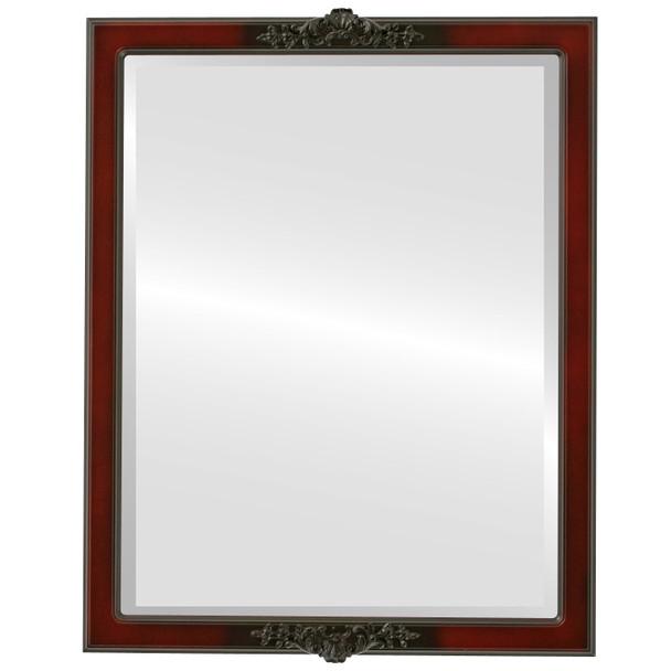 Beveled Mirror - Athena Rectangle Frame - Rosewood