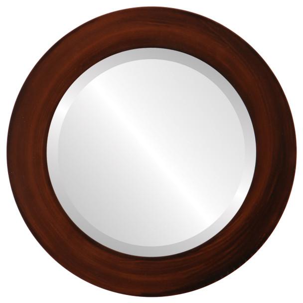 Beveled Mirror - Soho Round Frame - Mocha